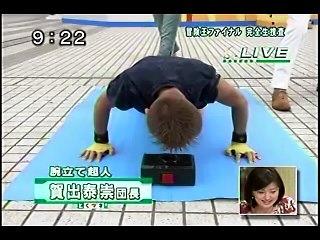 お台場冒険王ファイナル(とくダネ!フジテレビ)×腕立て超人賀出泰崇